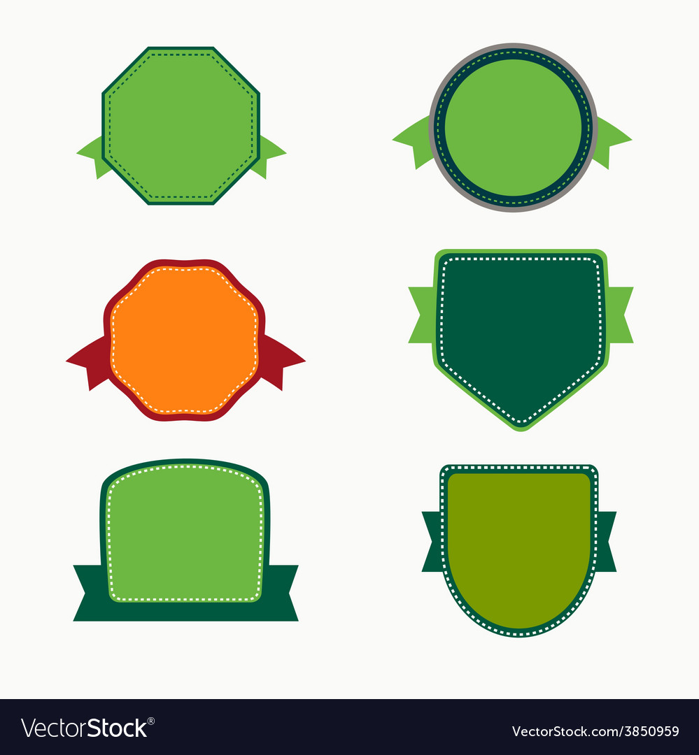 Badges collection vector | Price: 1 Credit (USD $1)