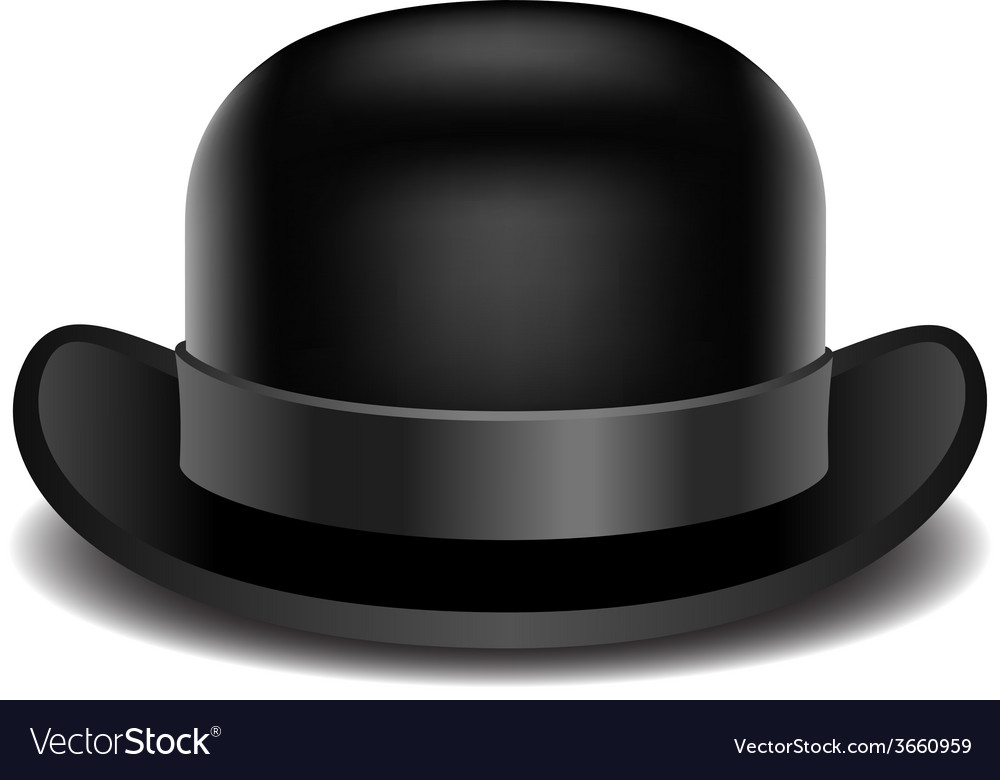 Bowler hat on a white background vector | Price: 1 Credit (USD $1)