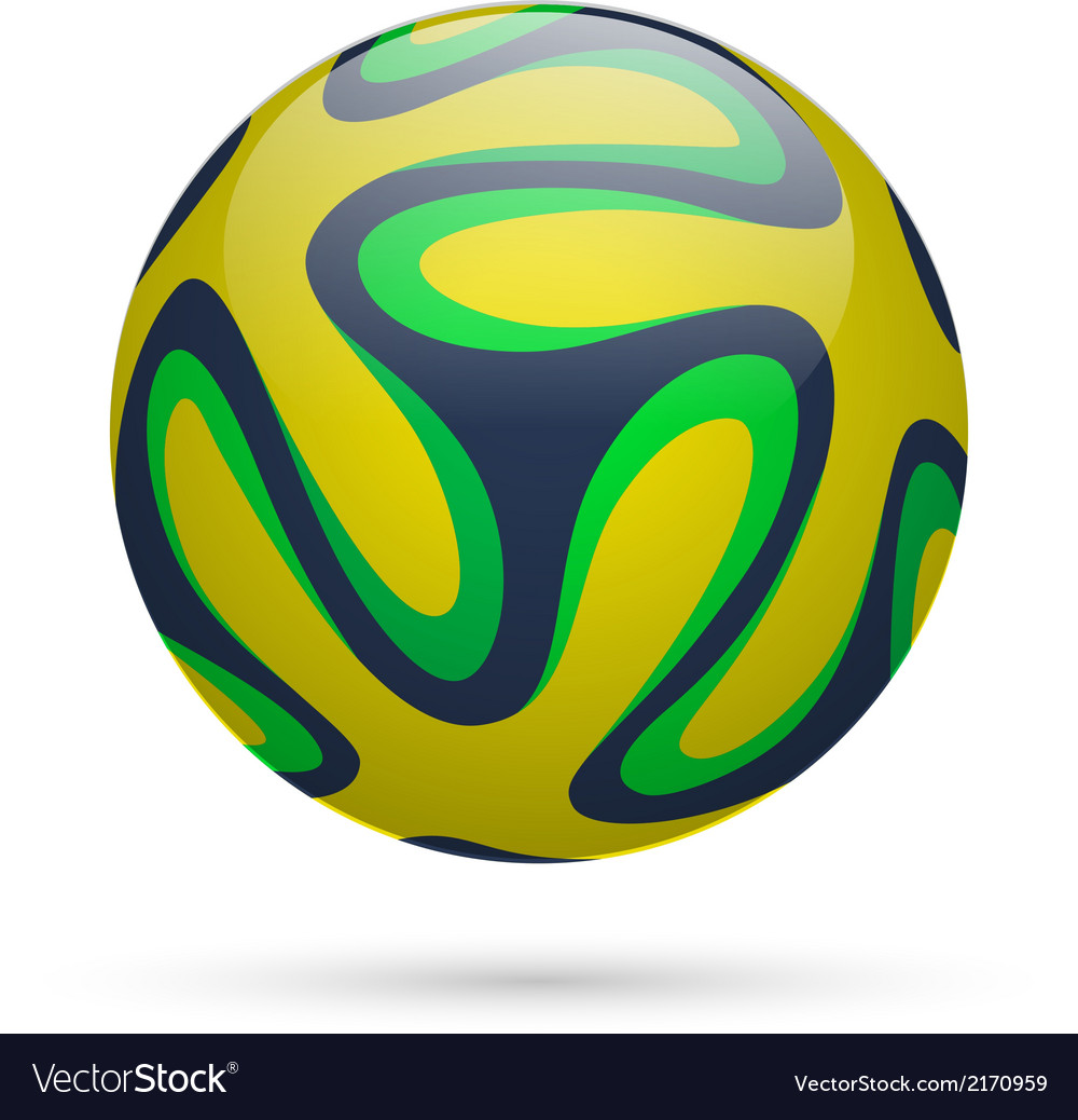 Brazilian soccer ball vector | Price: 1 Credit (USD $1)
