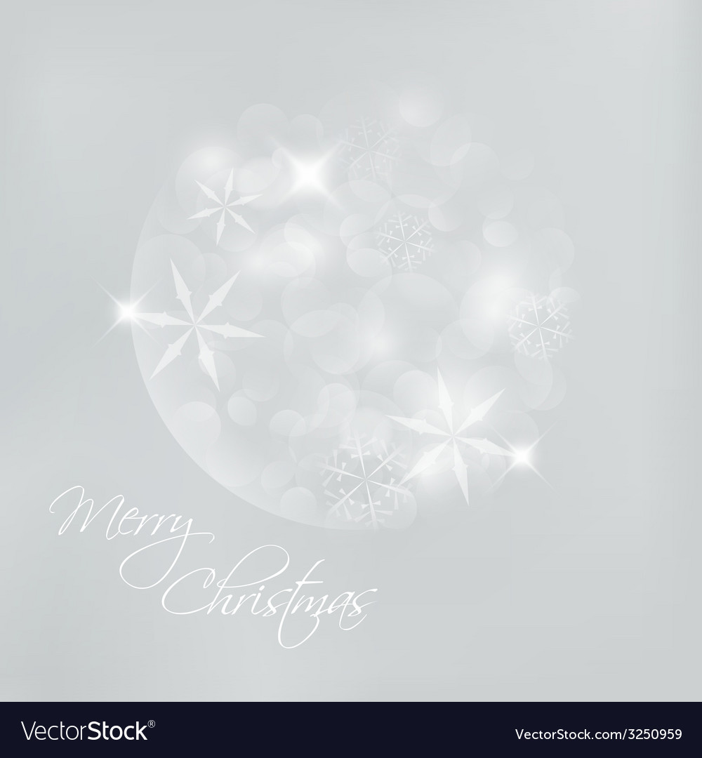 Christmas card with snowflakes and lights vector | Price: 1 Credit (USD $1)