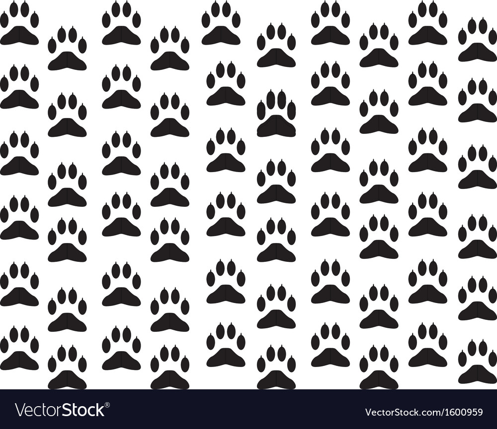 Dog foot print background vector | Price: 1 Credit (USD $1)