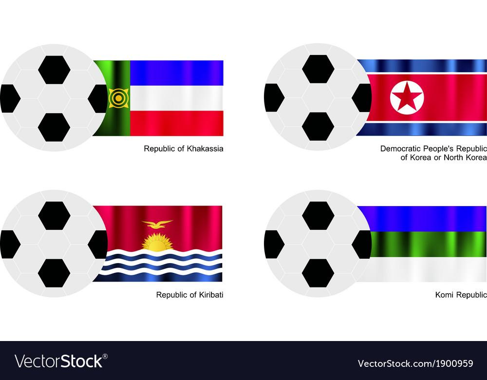 Football of khakassia north korea kiribati vector | Price: 1 Credit (USD $1)