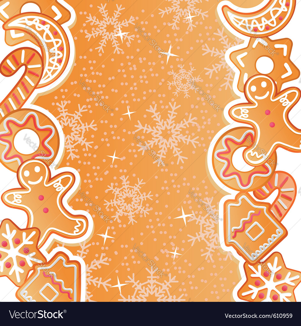 Gingerbread background vector | Price: 1 Credit (USD $1)