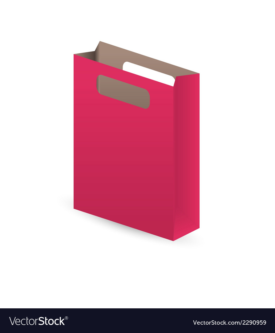 Red paper bag vector | Price: 1 Credit (USD $1)