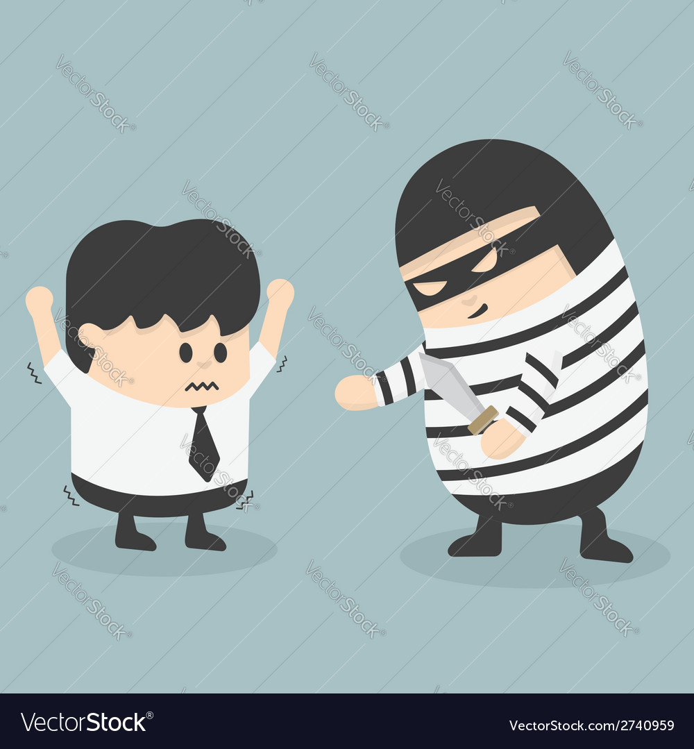 Robbing a businessman vector | Price: 1 Credit (USD $1)