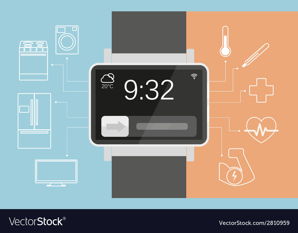 Smart wristwatch vector | Price: 1 Credit (USD $1)