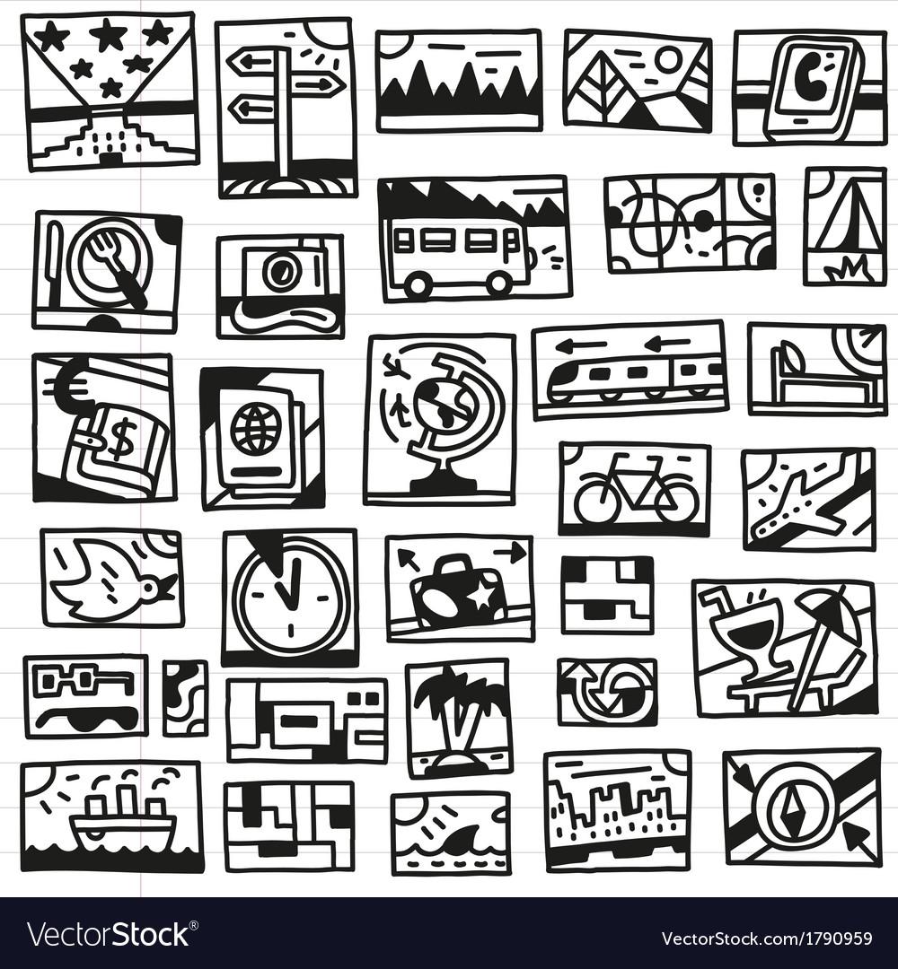 Travel - doodles vector   Price: 1 Credit (USD $1)