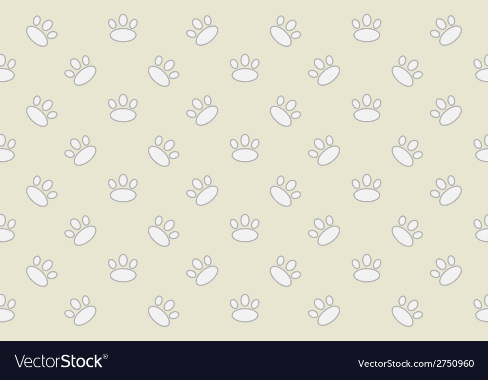 Animal footprint seamless pattern vector | Price: 1 Credit (USD $1)
