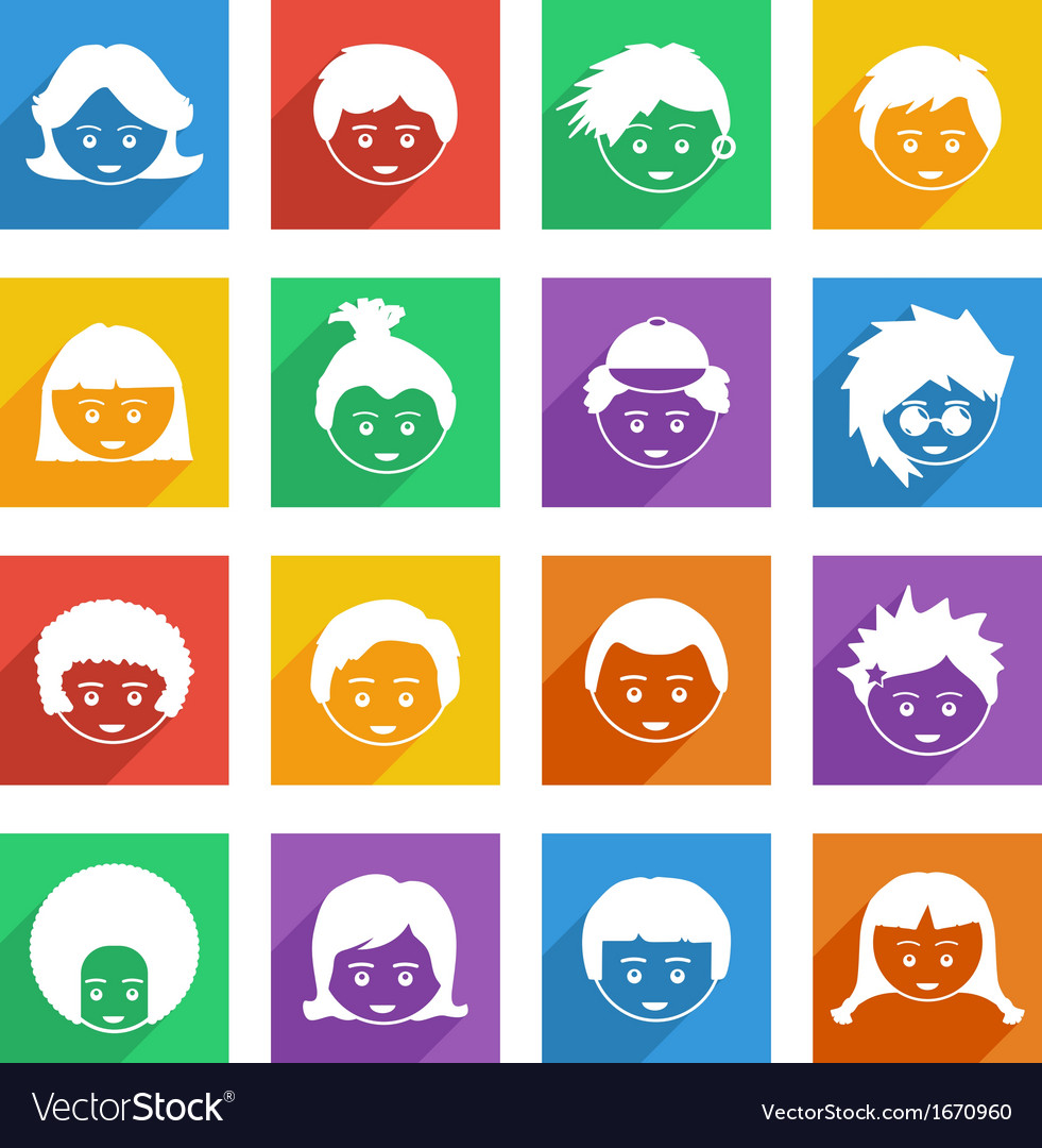 Bright kids icons vector   Price: 1 Credit (USD $1)
