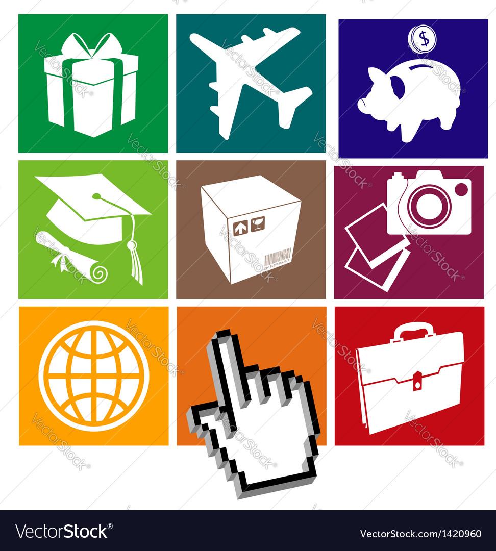 E-commerce grid vector | Price: 1 Credit (USD $1)