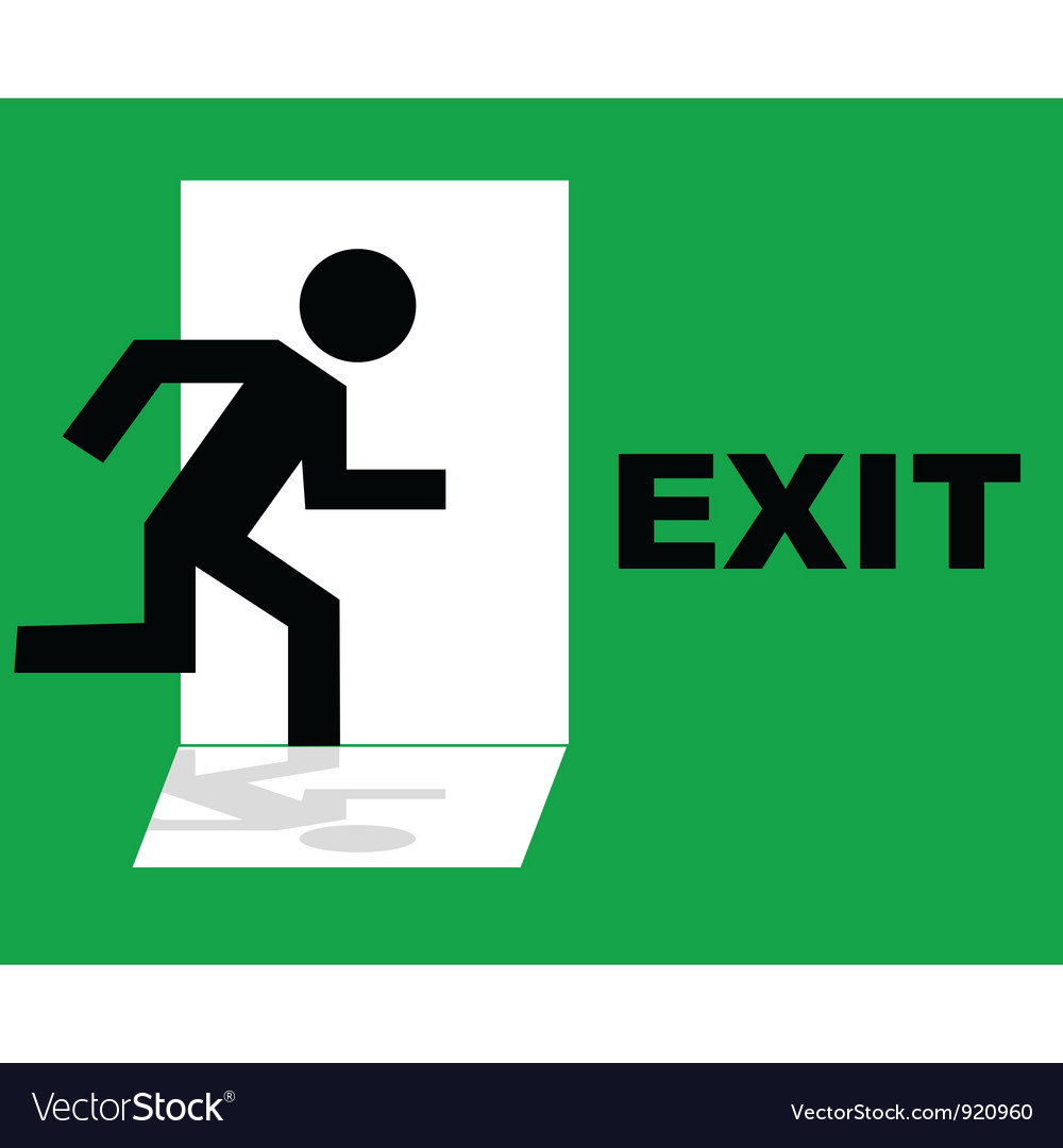 Exit sign vector | Price: 1 Credit (USD $1)