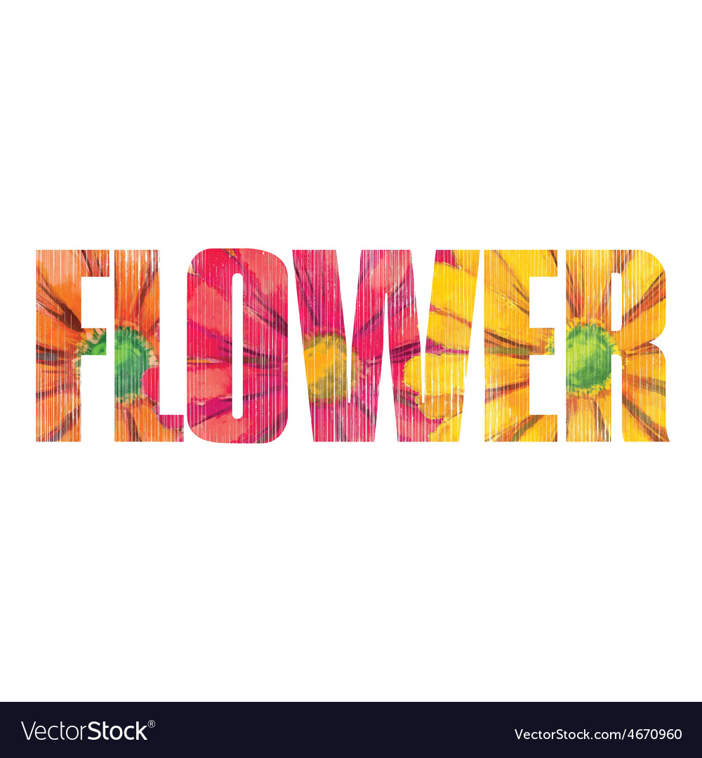 Flower sign vector | Price: 1 Credit (USD $1)