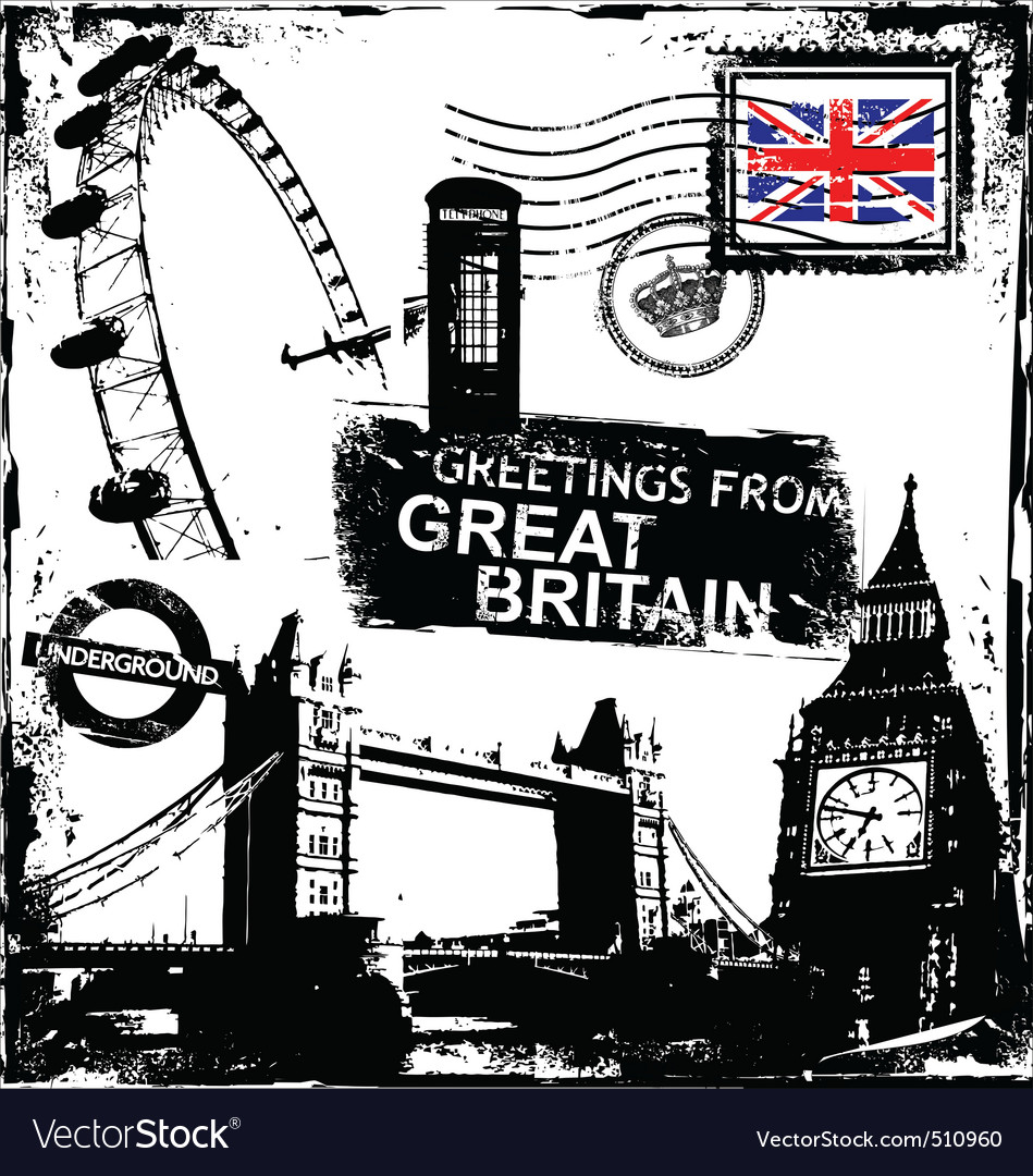Greetings from great britain vector | Price: 1 Credit (USD $1)