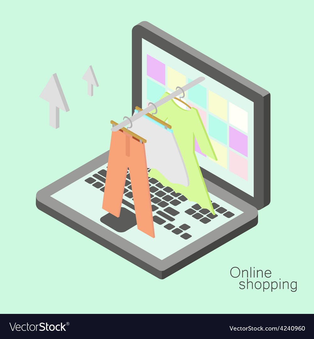 Isometric online shopping vector   Price: 1 Credit (USD $1)