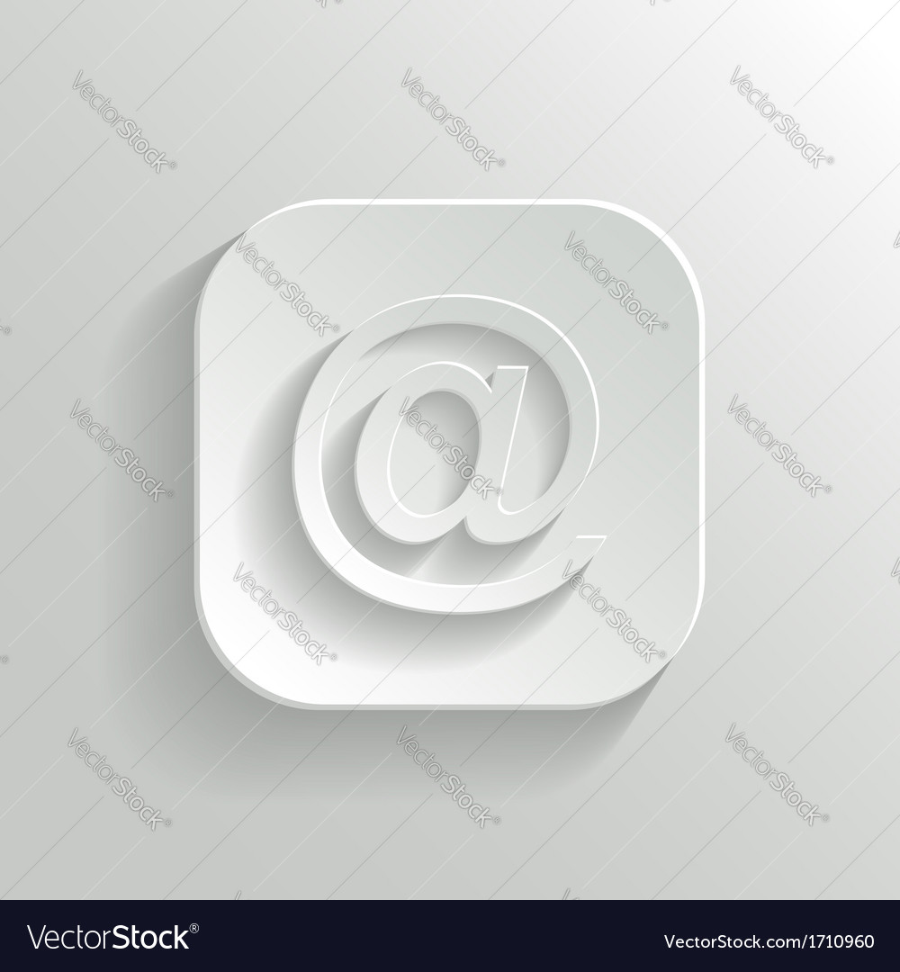 Mail icon - white app button vector | Price: 1 Credit (USD $1)