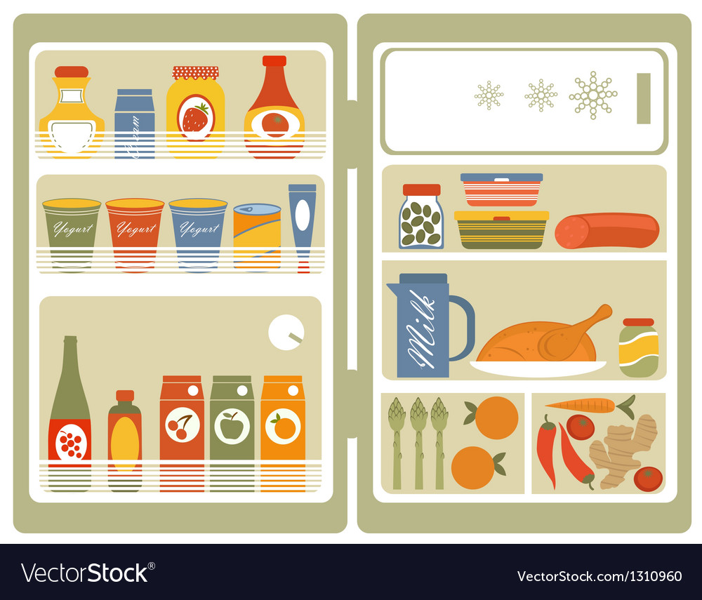 Open fridge 2 vector | Price: 1 Credit (USD $1)