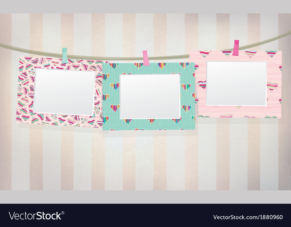 Photos frame vector | Price: 1 Credit (USD $1)