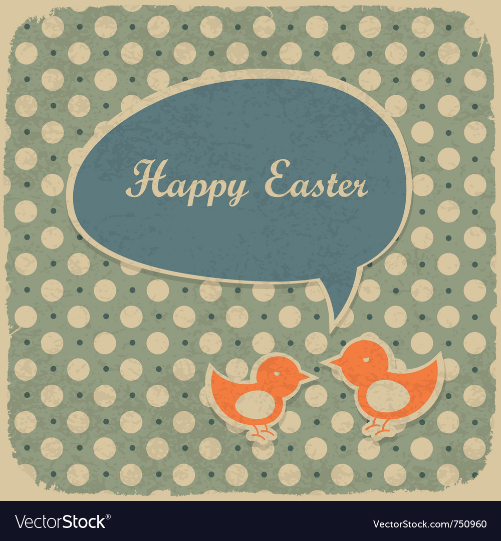 Retro easter background vector | Price: 1 Credit (USD $1)