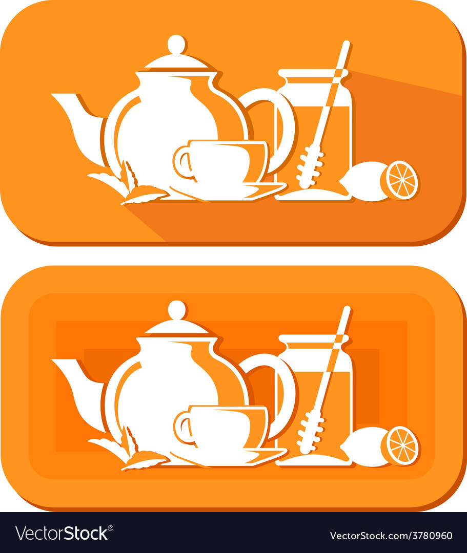 Tea objects vector | Price: 1 Credit (USD $1)