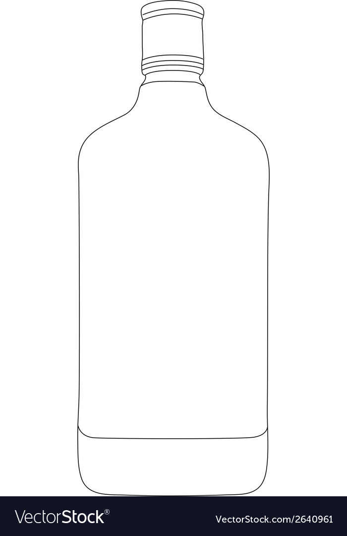 Bottle contour vector | Price: 1 Credit (USD $1)