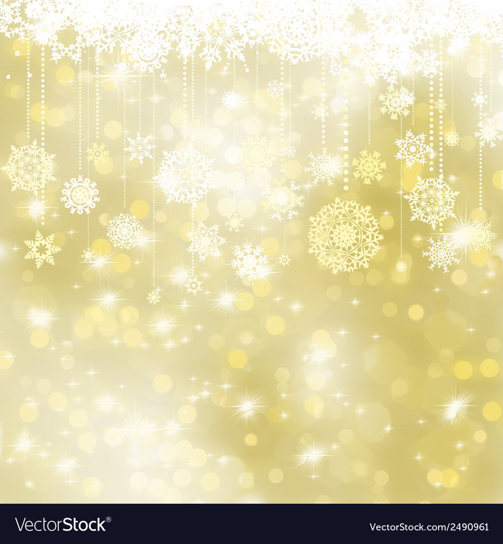Elegant gold christmas background eps 8 vector | Price: 1 Credit (USD $1)
