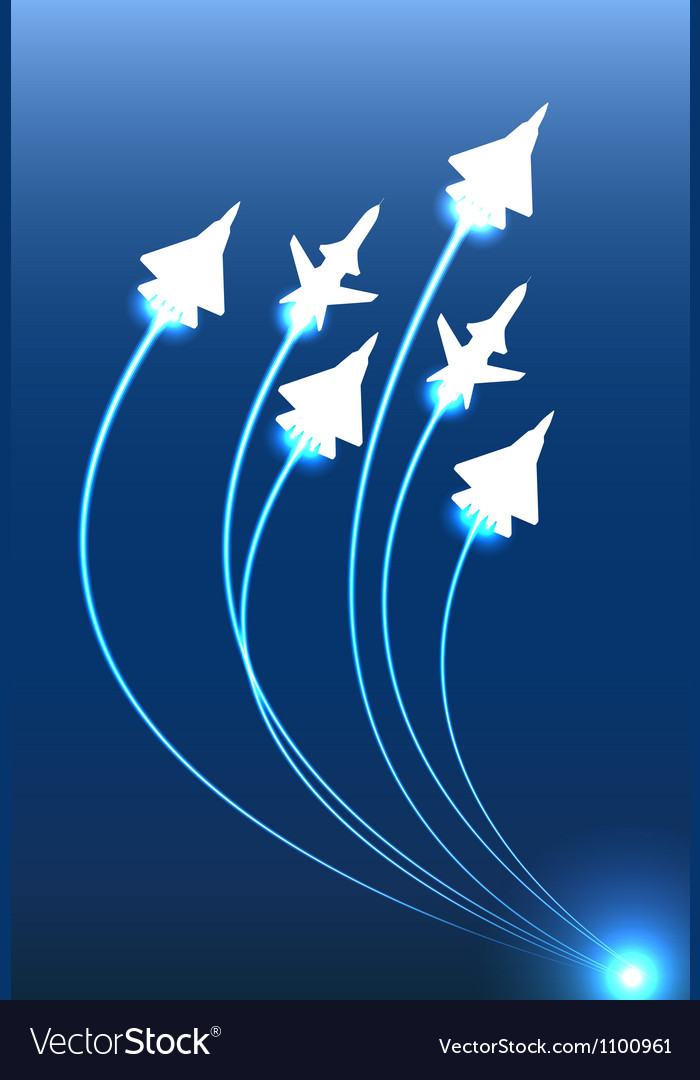 Flying jets group vector | Price: 1 Credit (USD $1)