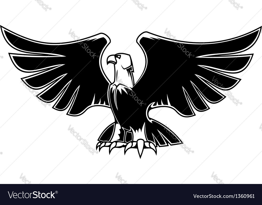 Majestic eagle with open wings vector | Price: 1 Credit (USD $1)