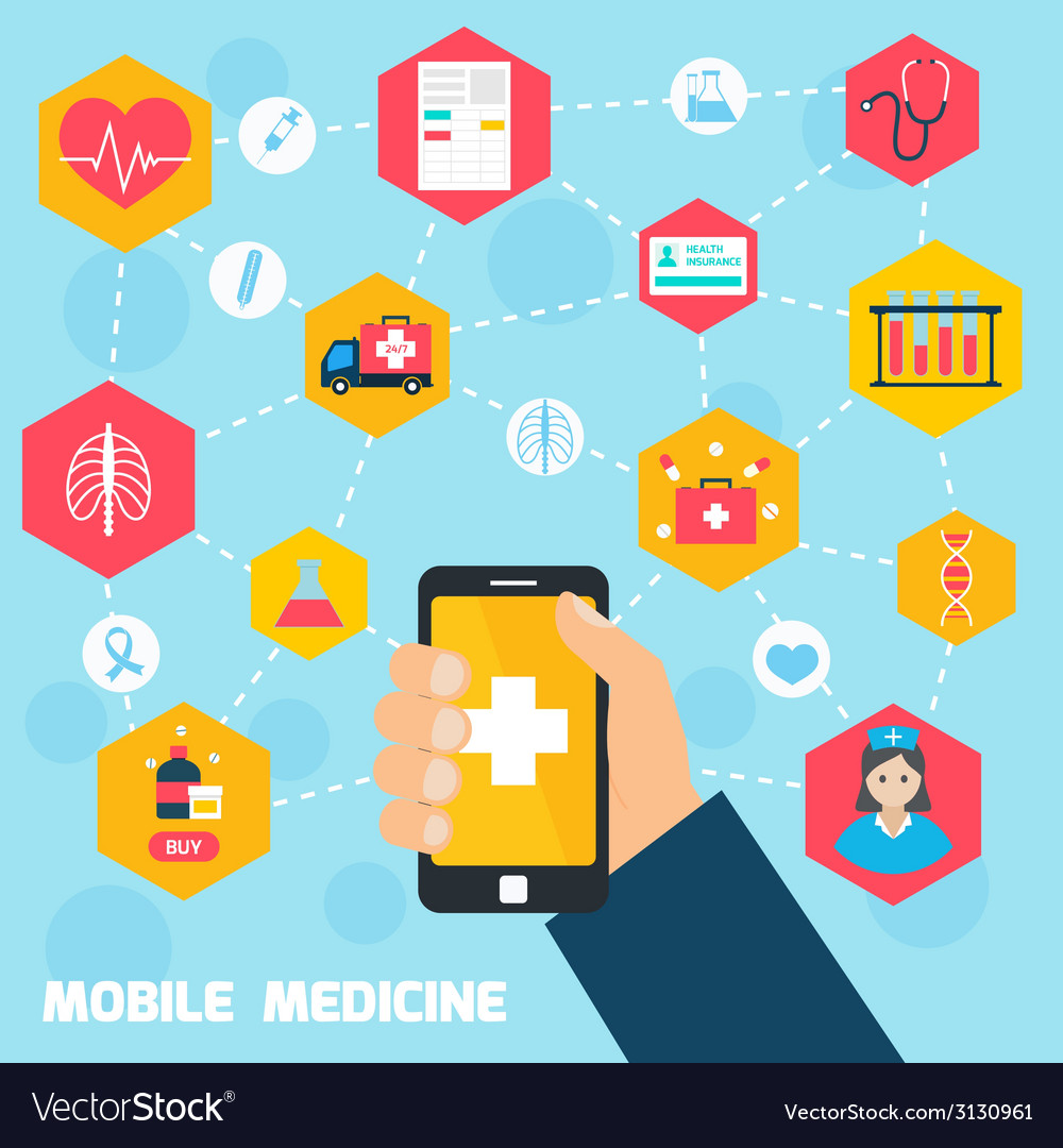 Mobile health concept vector | Price: 1 Credit (USD $1)