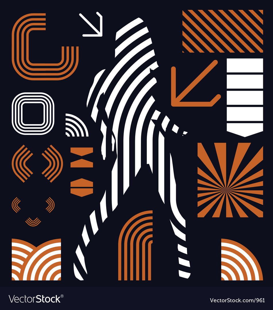 Stripe graphic elements vector