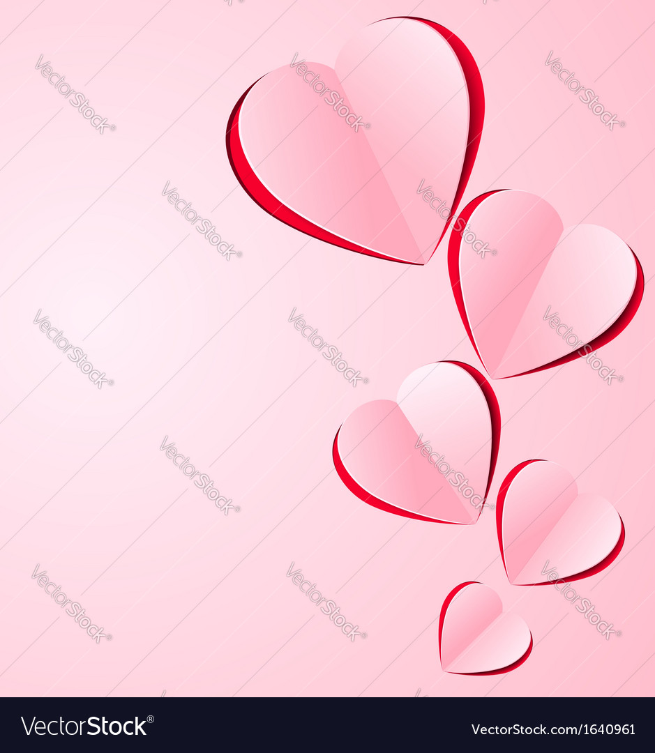 Stylized paper heart vector | Price: 1 Credit (USD $1)
