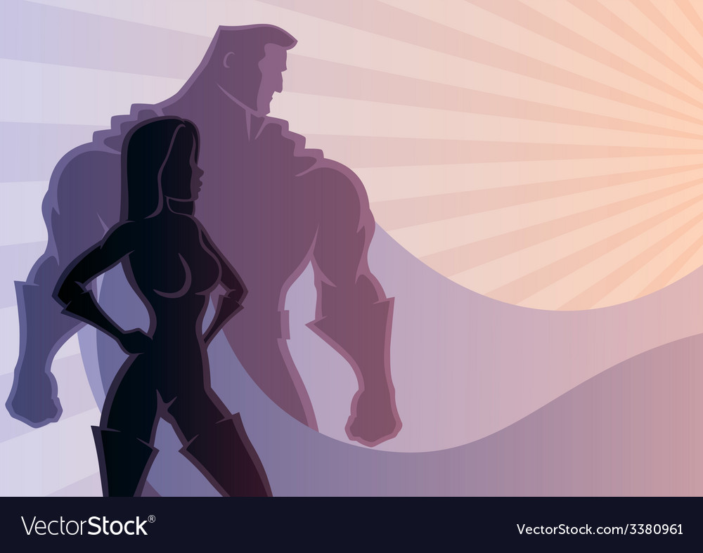 Superhero couple 3 vector | Price: 1 Credit (USD $1)