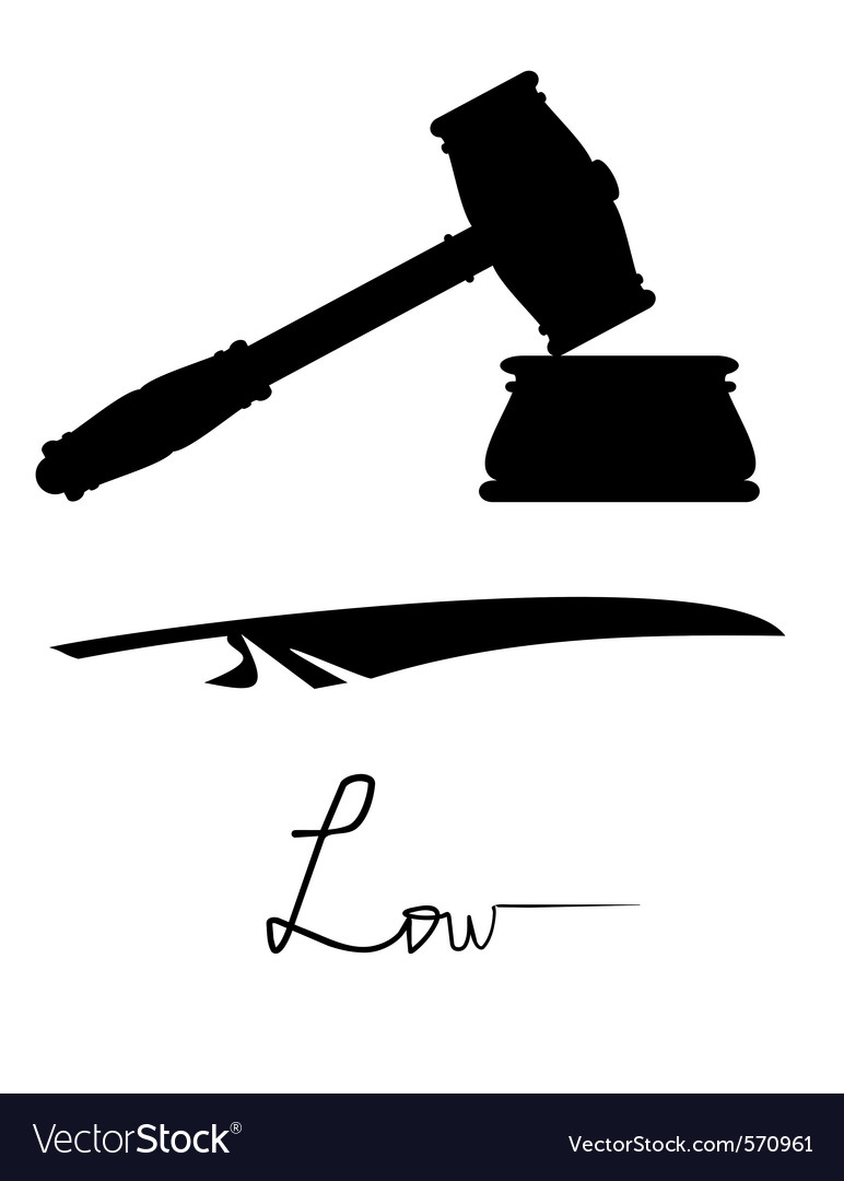 Symbols of justice and low vector | Price: 1 Credit (USD $1)