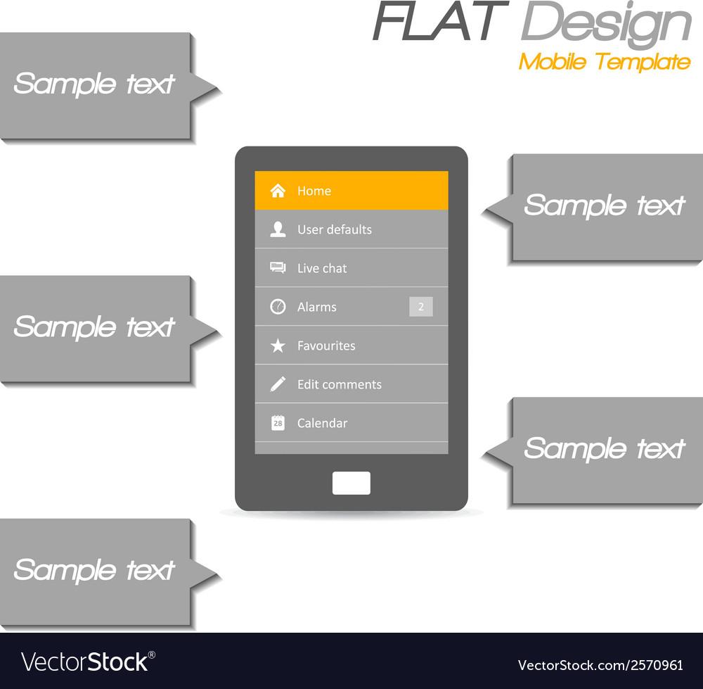 Tablet flat design vector   Price: 1 Credit (USD $1)