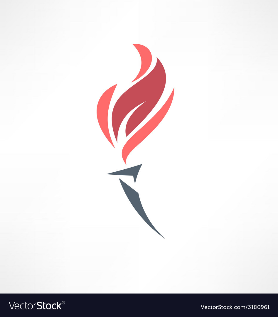 Torch icon logo design vector | Price: 1 Credit (USD $1)
