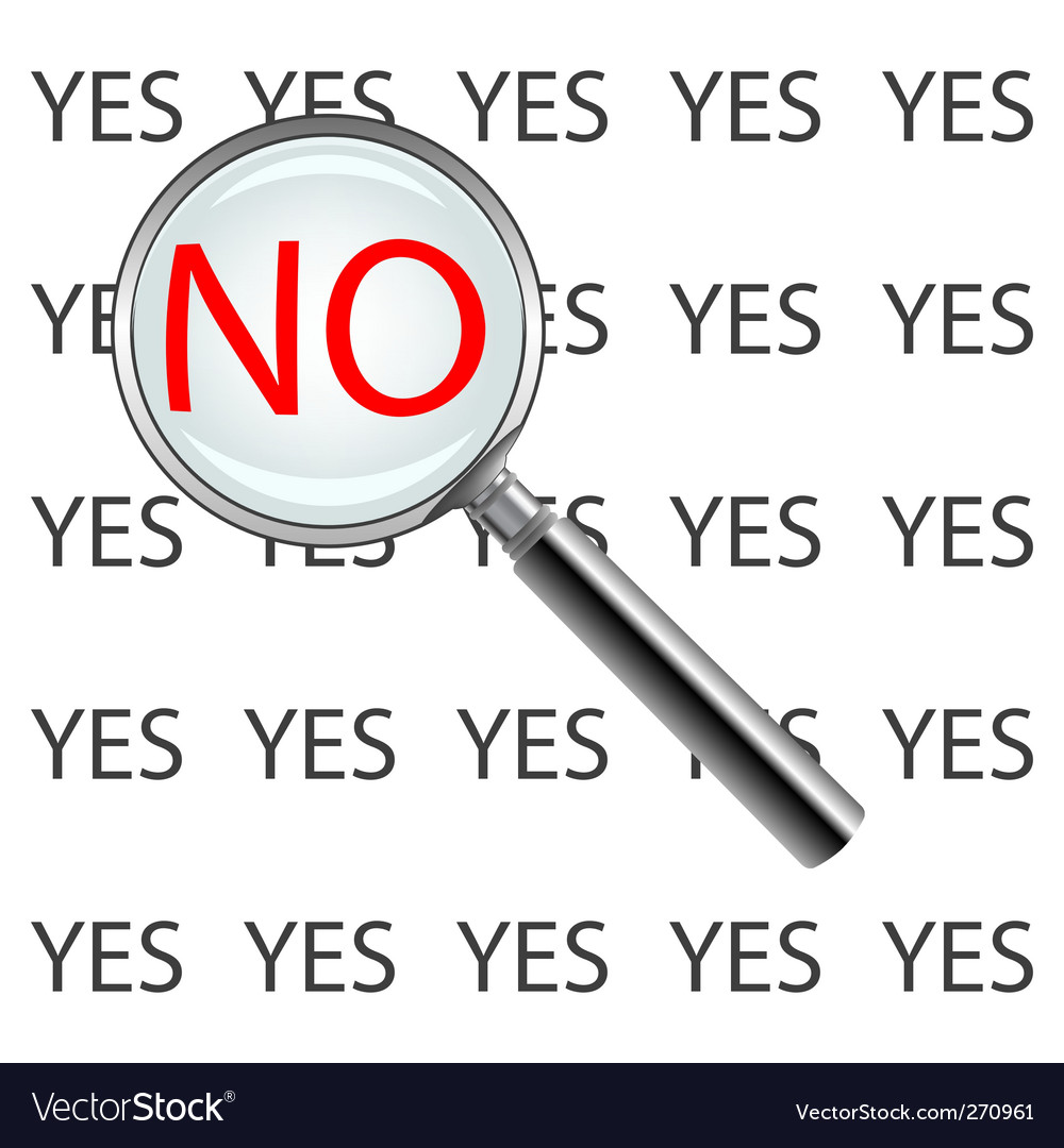 Yes or no poster vector | Price: 1 Credit (USD $1)
