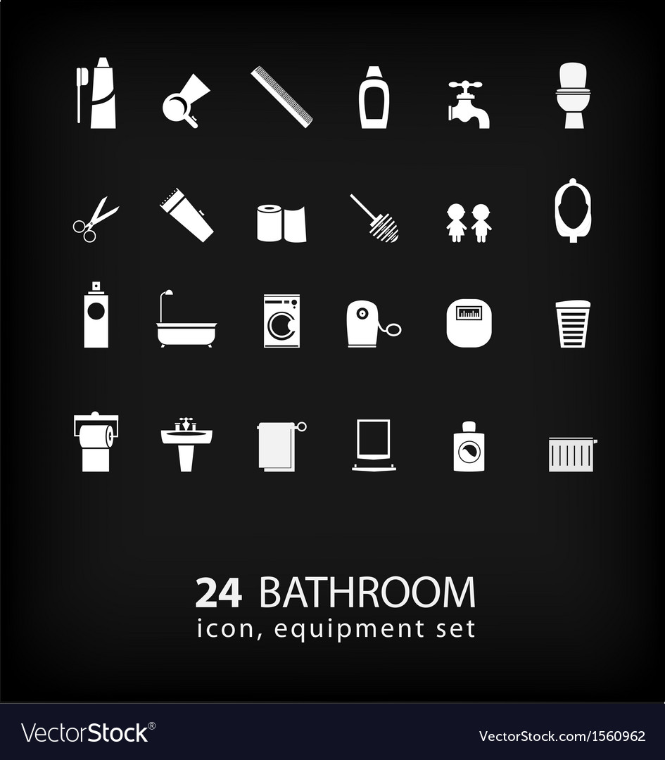Bathroom equipment set vector | Price: 1 Credit (USD $1)