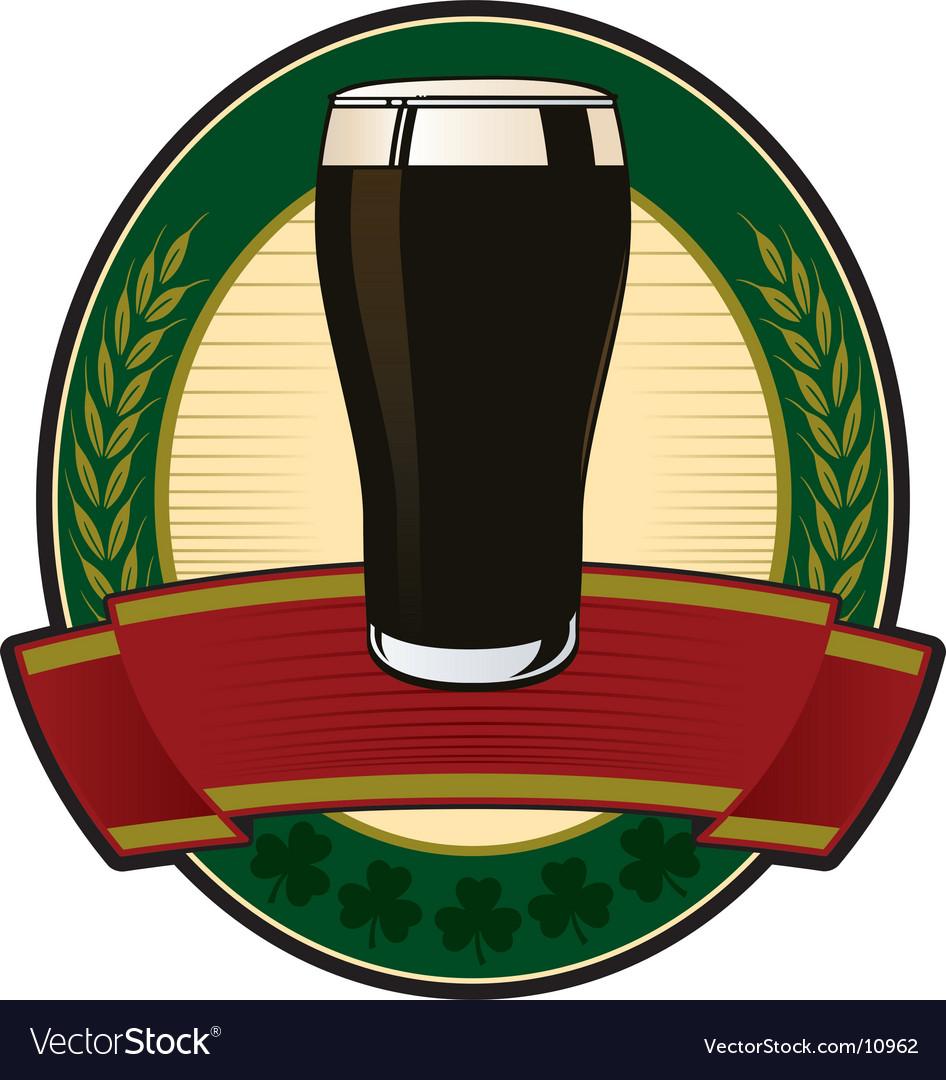 Black beer irish label vector   Price: 1 Credit (USD $1)