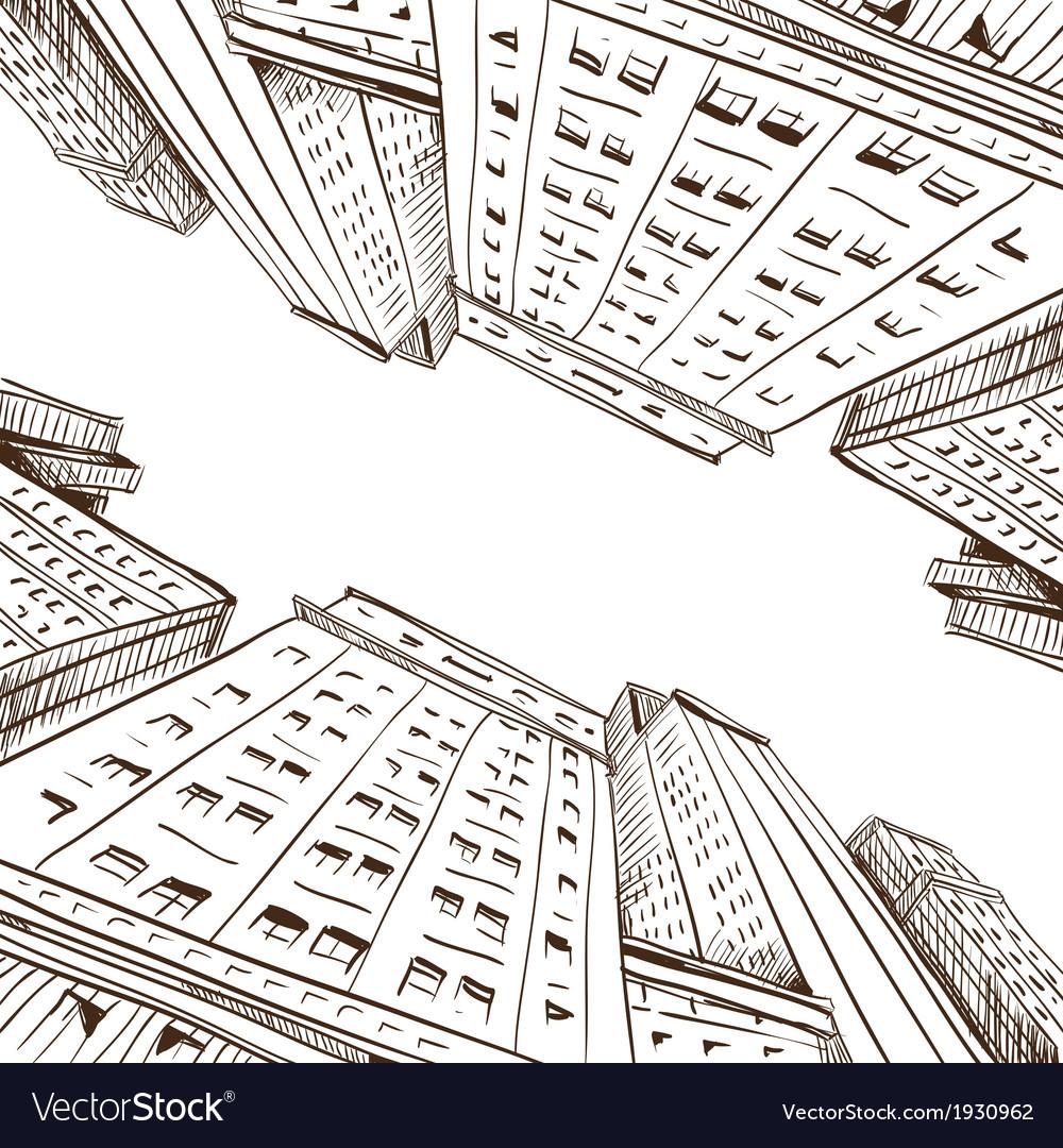 City hand drawn vector | Price: 1 Credit (USD $1)