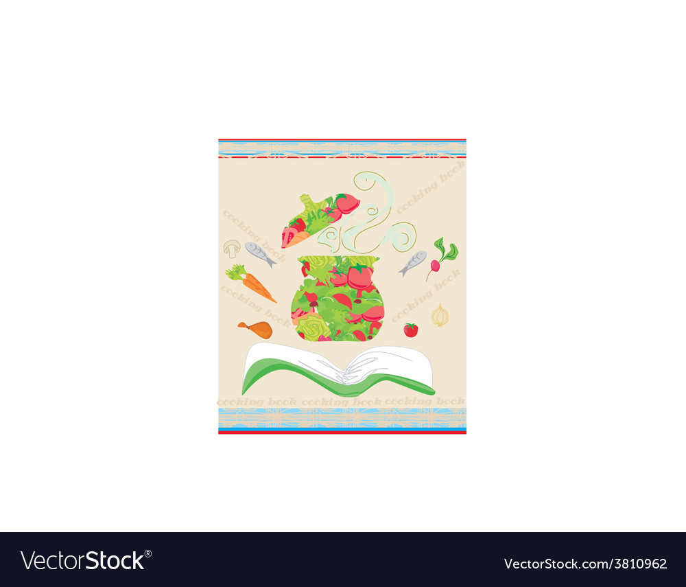 Cooking book cover vector | Price: 1 Credit (USD $1)