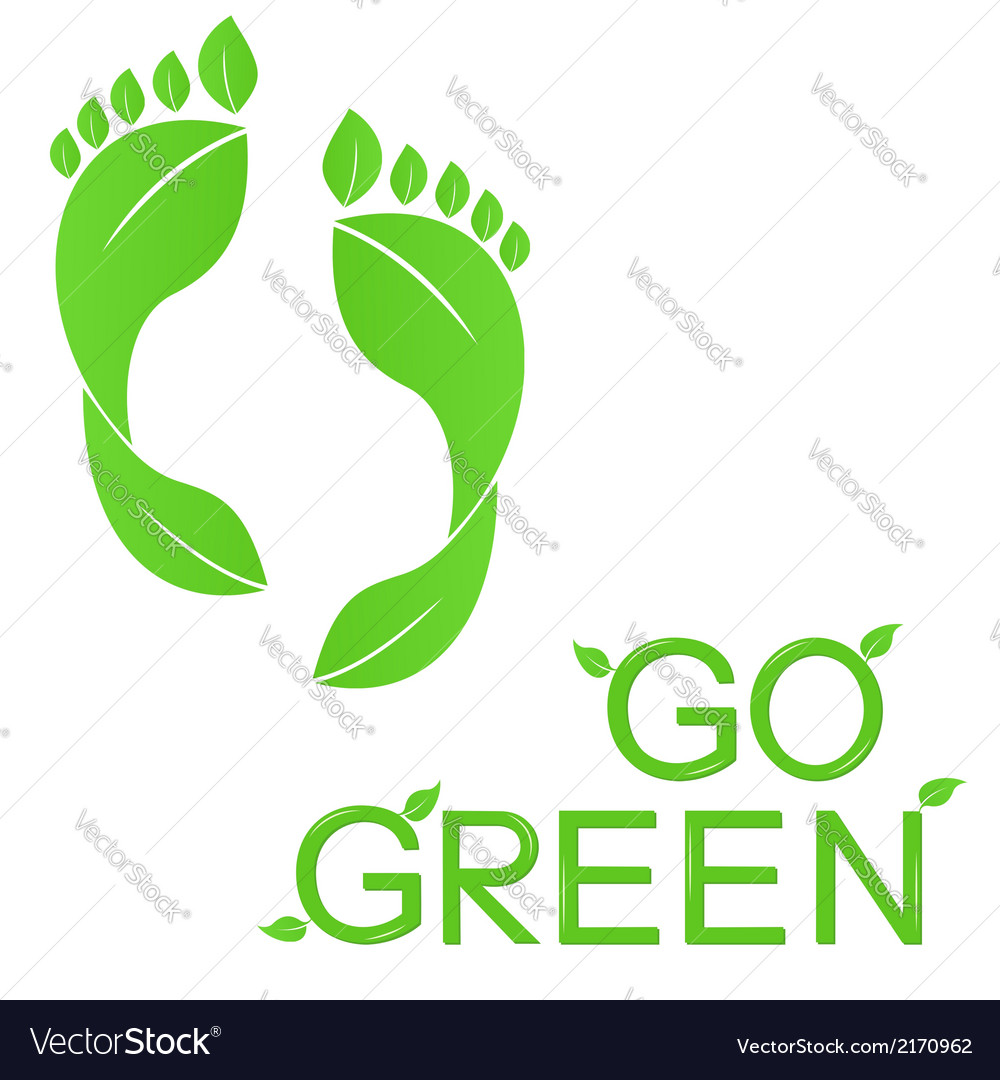 Go green vector | Price: 1 Credit (USD $1)