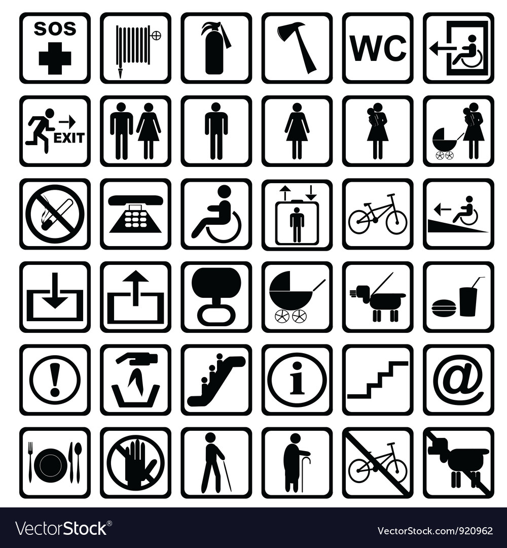 International service signs all objects are vector | Price: 1 Credit (USD $1)