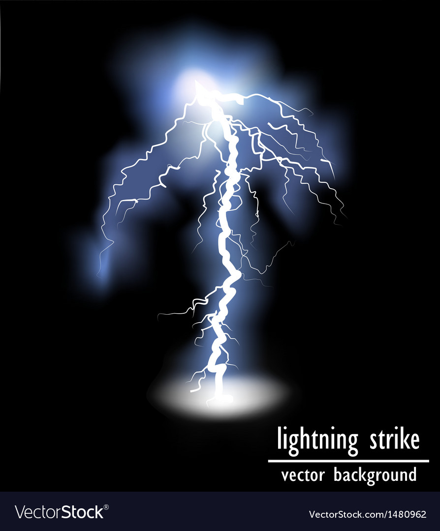 Lightning flash strike background vector | Price: 3 Credit (USD $3)