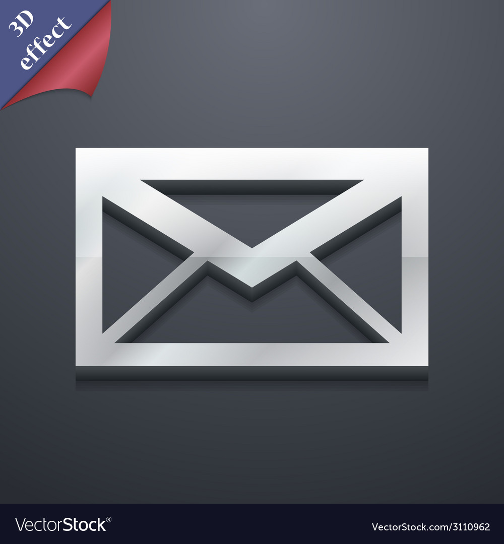 Mail icon symbol 3d style trendy modern design vector | Price: 1 Credit (USD $1)