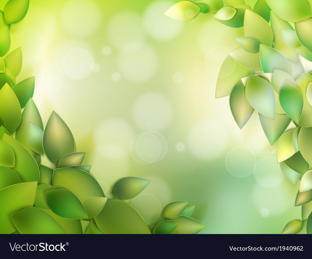 Natural green with selective focus eps 10 vector | Price: 1 Credit (USD $1)