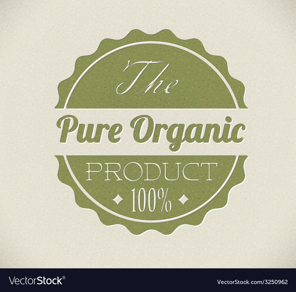 Old round retro vintage grunge stampl for organic vector | Price: 1 Credit (USD $1)