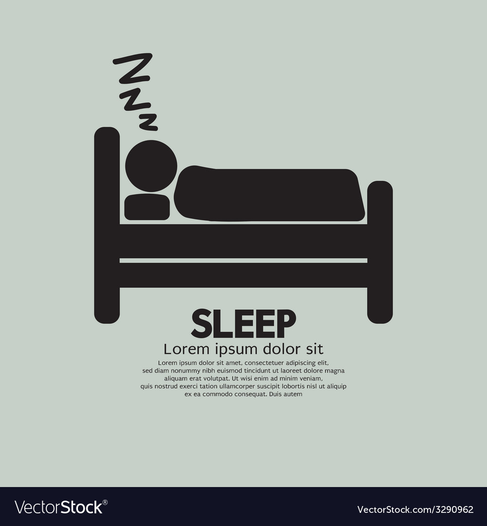 Person sleeping in bed symbol vector | Price: 1 Credit (USD $1)