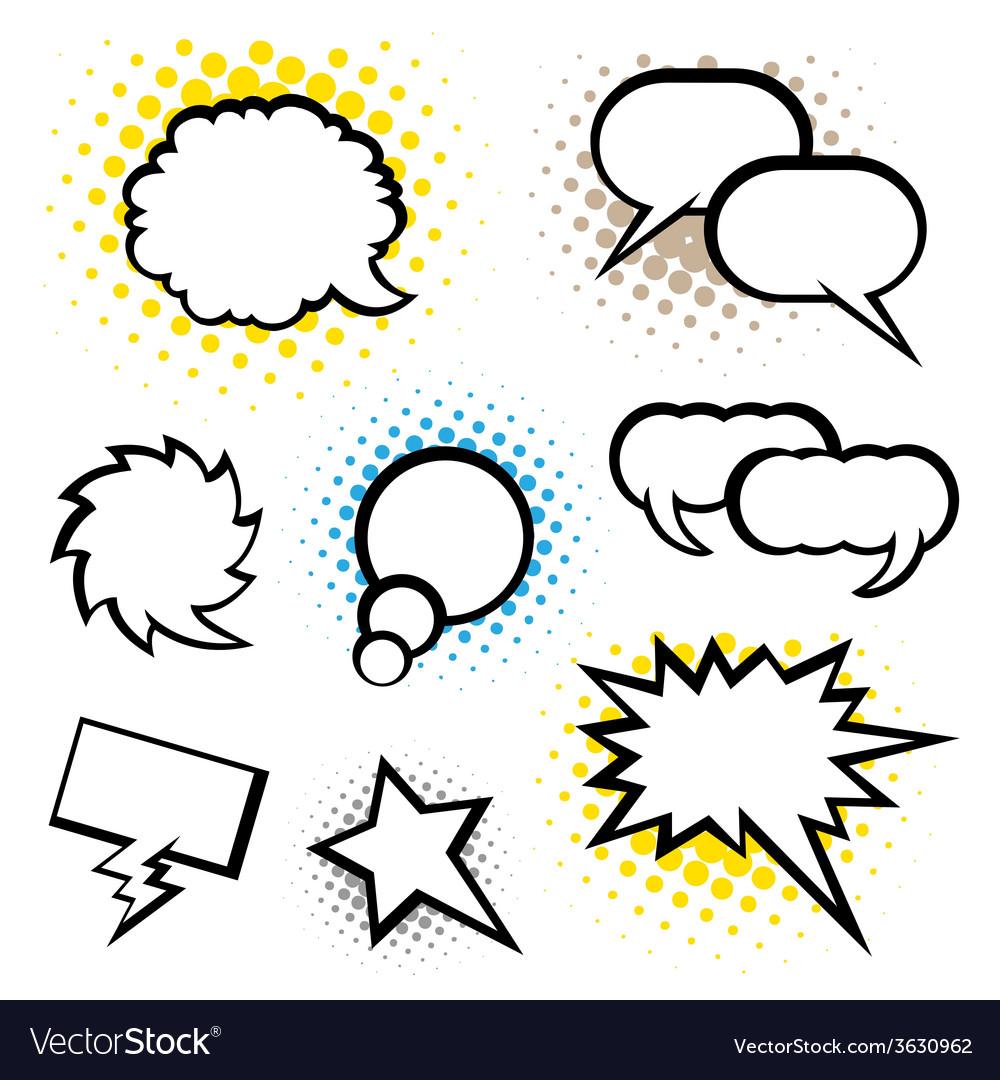Set of speech bubble vector | Price: 1 Credit (USD $1)
