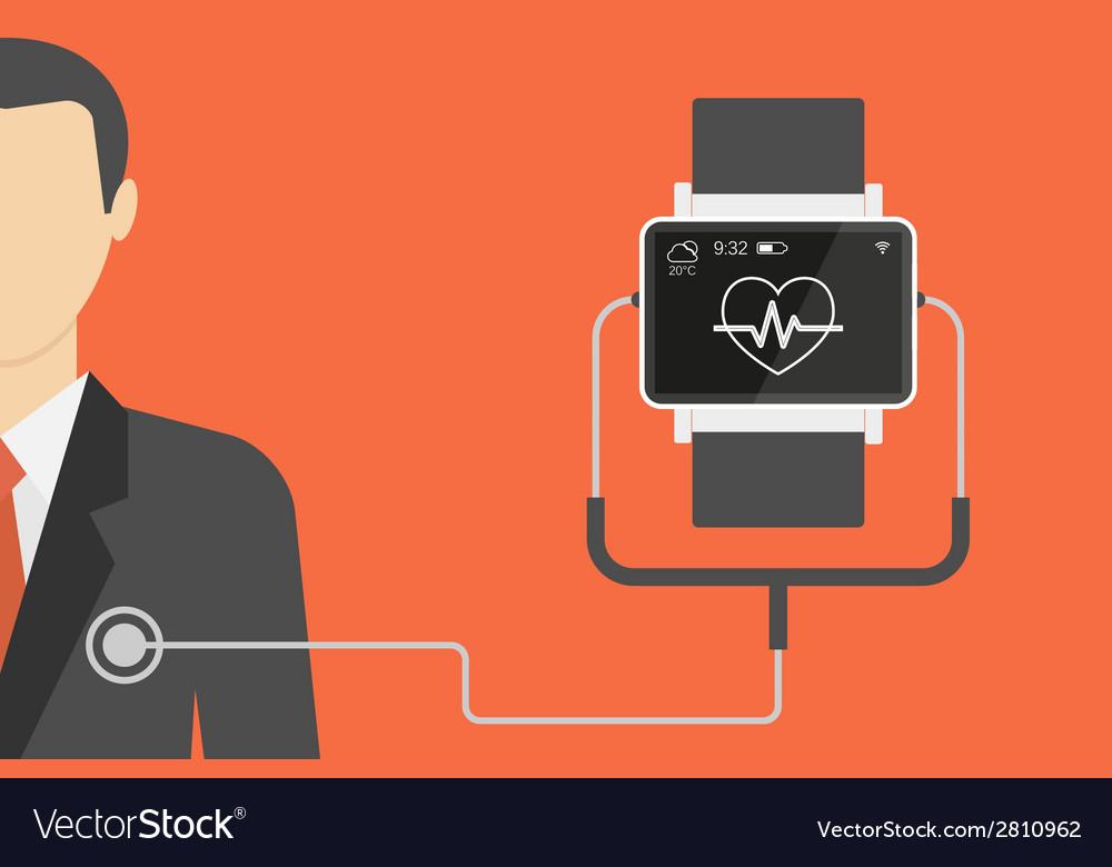 Smart wristwatch vector | Price: 1 Credit (USD $1)