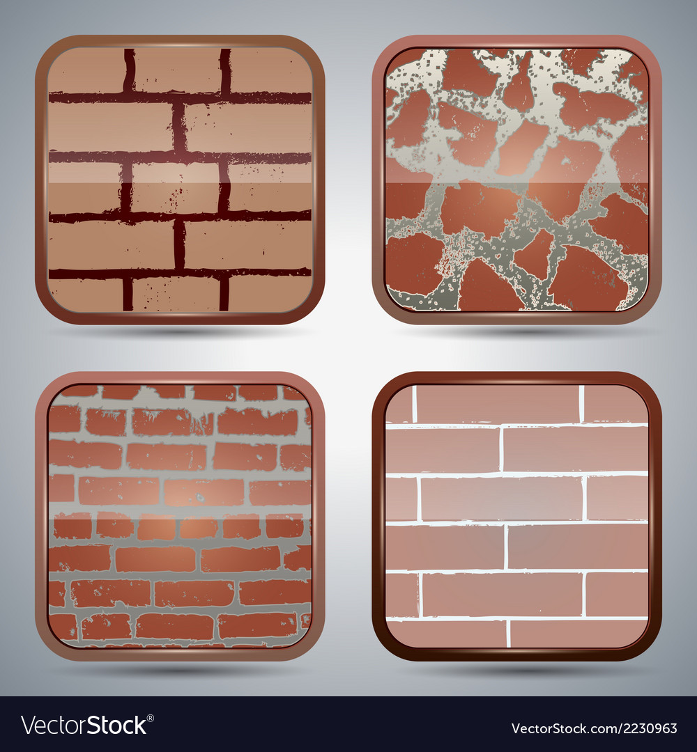 Brick wall buttons vector | Price: 1 Credit (USD $1)