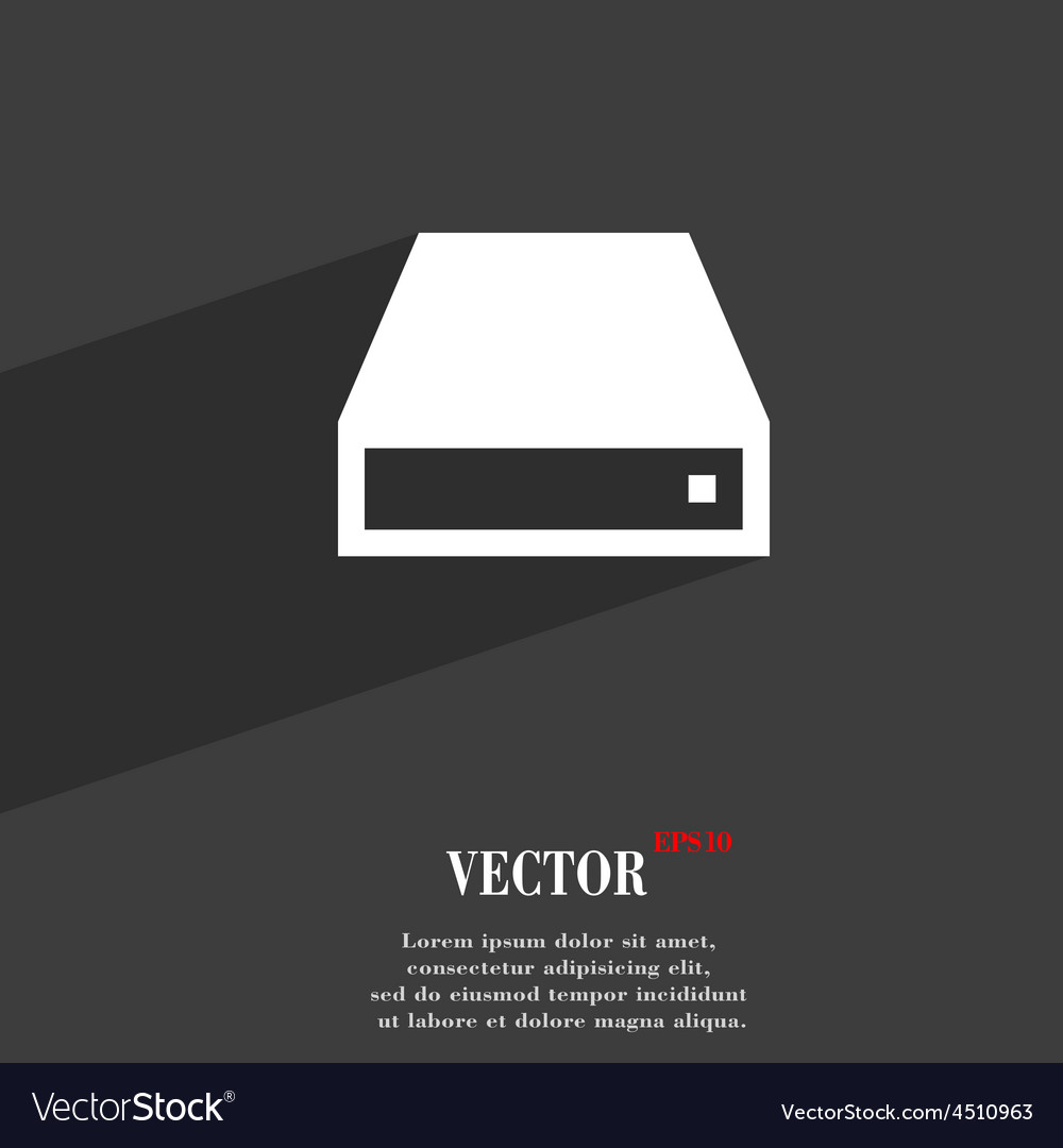 Cd-rom icon symbol flat modern web design with vector | Price: 1 Credit (USD $1)